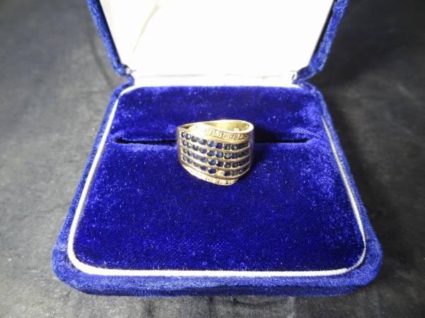 リング 宝石 ブルーサファイアダイヤモンド0.05ct K18 18金